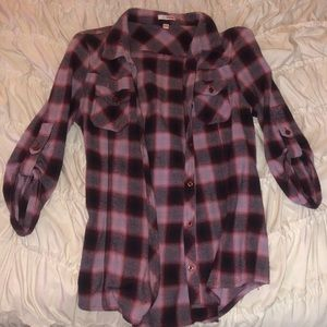 Tops - maroon flannel